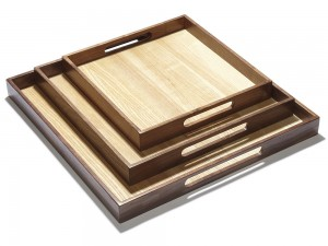 Client image for walnut and ash trays